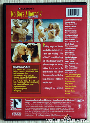 Playboy: No Boys Allowed 2, 100% Girls - DVD - Back Cover