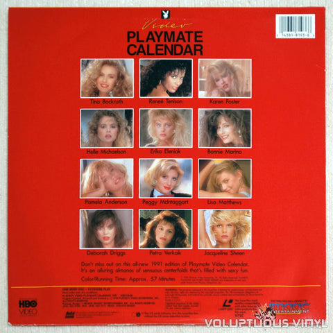 Playboy Video Playmate Calendar 1991 LaserDisc Pamela Anderson Back Cover