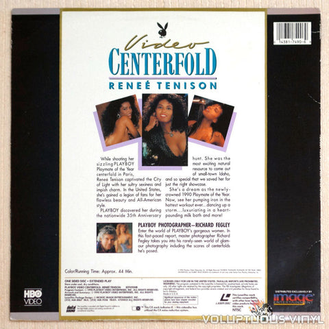 Playboy Video Centerfold Renee Tenison: Playmate of Year 1990 LaserDisc Back Cover