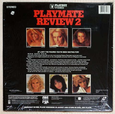 Playboy Playmate Review 2 Laser Disc Back Cover