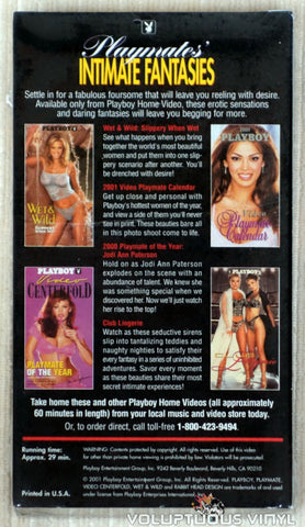 Playboy: Playmates' Intimate Fantasies - VHS Tape - Back Cover