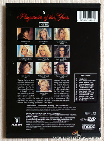 Playboy: Playmates Of The Year The 90's - DVD - Back Cover