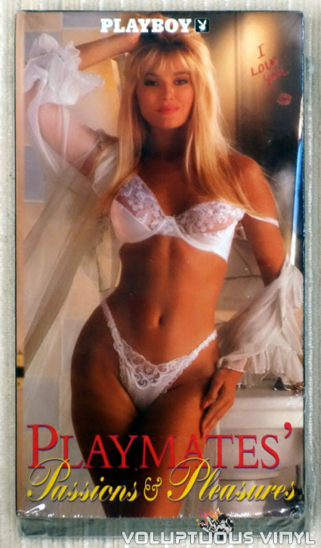 Playboy: Playmates Passions & Pleasures - VHS Tape - Front Cover