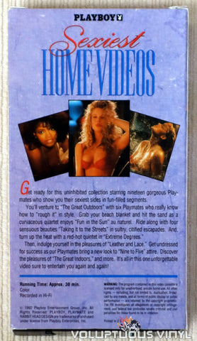 Playboy: Sexiest Home Videos - VHS Tape - Back Cover