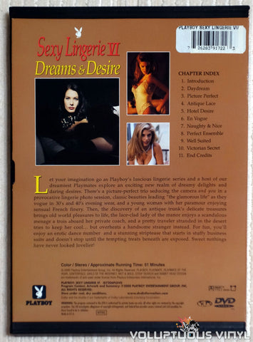 Playboy Sexy Lingerie VI: Dreams & Desire - DVD - Back Cover