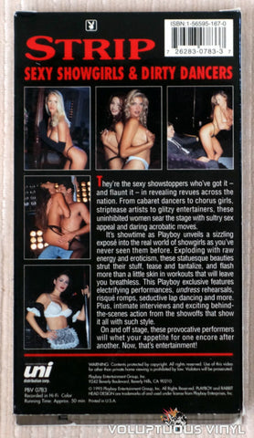 Playboy: Strip, Sexy Showgirls & Dirty Dancers - VHS Tape - Back Cover