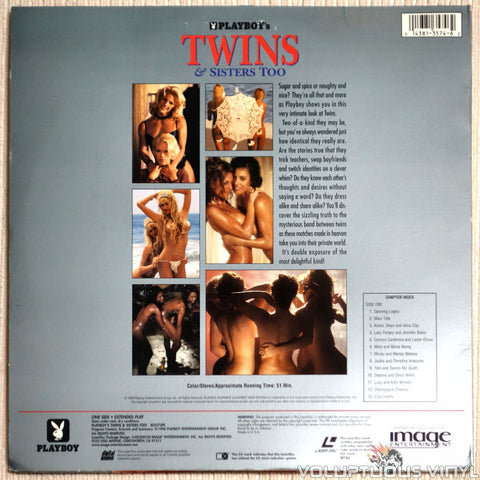 Playboy: Twins & Sisters Too - LaserDisc - Back Cover