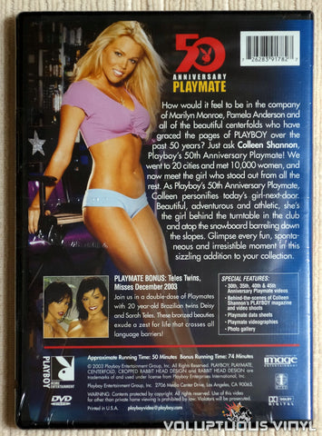 Playboy Video Centerfold: 50th Anniversary Playmate Colleen Shannon - DVD - Back Cover