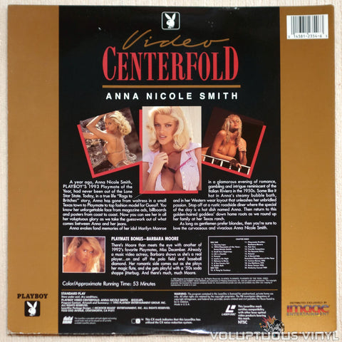 Playboy Video Centerfold: Anna Nicole Smith: Playmate of the Year - Laserdisc - Back Cover