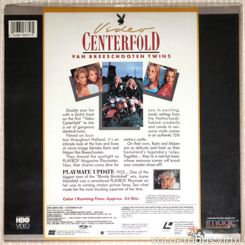Playboy Video Centerfold: Dutch Twins: Van Breeschooten Twins - LaserDisc - Back Cover