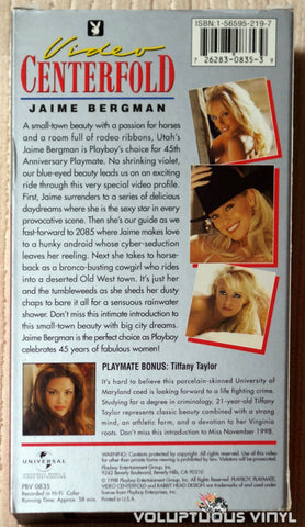 Playboy Video Centerfold - Jaime Bergman: 45th Anniversary Playmate - VHS Tape - Back Cover
