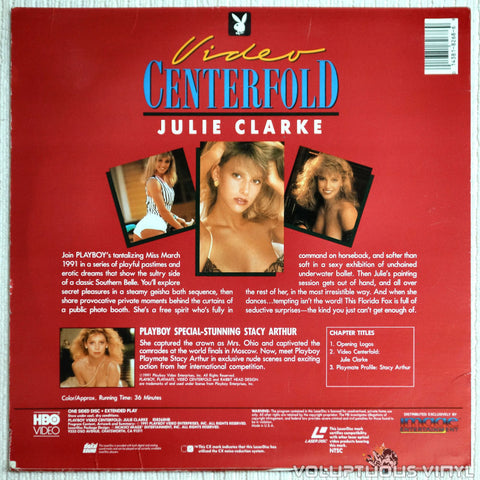 Playboy Video Centerfold: Julie Clarke - LaserDisc - Back Cover