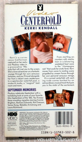 Playboy Video Centerfold - Kerri Kendall - VHS Tape - Back Cover