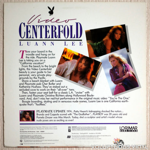 Playboy Video Centerfold: Luann Lee - LaserDisc - Back Cover