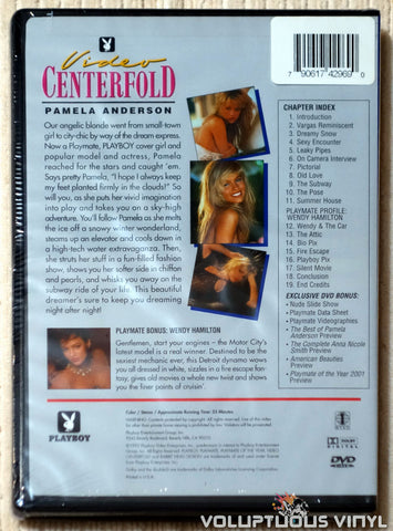 Playboy Video Centerfold - Pamela Anderson: Beautiful Dreamer DVD back cover