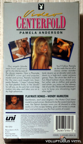 Playboy Video Centerfold - Pamela Anderson: Beautiful Dreamer - VHS - Back Cover