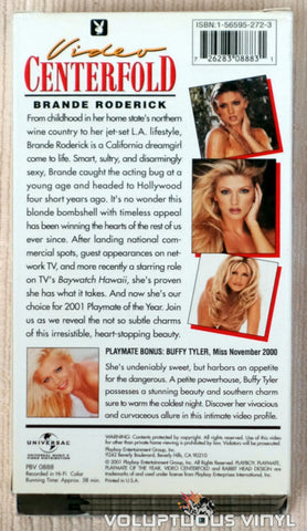 Playboy Video Centerfold: Playmate of the Year Brande Roderick - VHS Tape - Back Cover