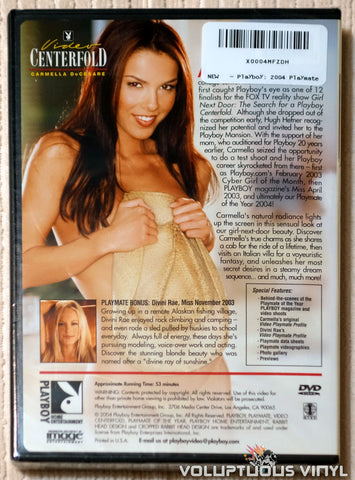 Playboy Video Centerfold: Playmate of the Year Carmella DeCesare - DVD - Back Cover