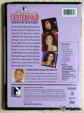 Playboy Video Centerfold: Playmate of the Year Christina Santiago - DVD - Back Cover