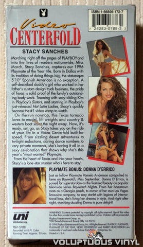 Playboy Video Centerfold: Stacy Sanches: Playmate of the Year - VHS - Back Cover