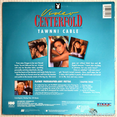 Playboy: Video Centerfold - Tawnni Cable - LaserDisc - Back Cover