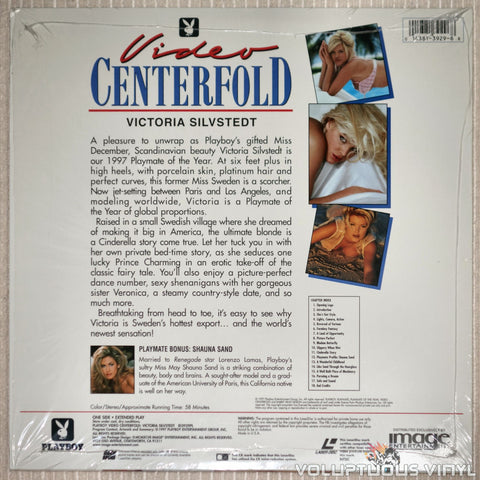 Playboy Video Centerfold: Victoria Silvstedt: Playmate of the Year - LaserDisc - Back Cover