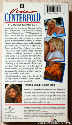 Playboy Video Centerfold: Victoria Silvstedt: Playmate of the Year - VHS Tape - Back Cover