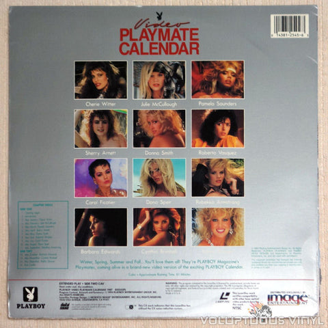 Playboy Video Playmate Calendar 1987 - LaserDisc - Back Cover