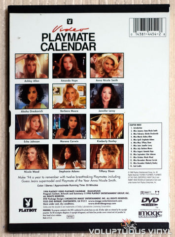 Playboy Video Playmate Calendar 1994 - DVD - Back Cover
