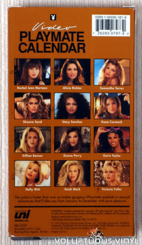 Playboy Video Playmate Calendar 1997 - VHS Tape - Back Cover