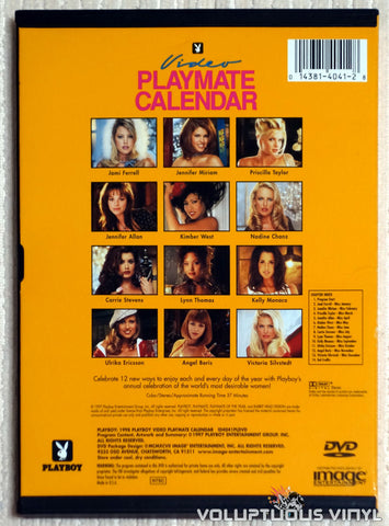 Playboy Video Playmate Calendar 1998 - DVD - Back Cover