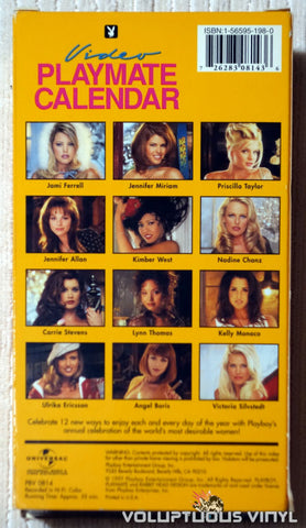 Playboy Video Playmate Calendar 1998 - VHS - Back Cover