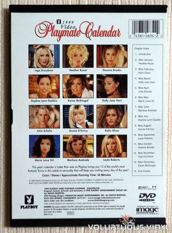 Playboy Video Playmate Calendar 1999 - DVD - Back Cover