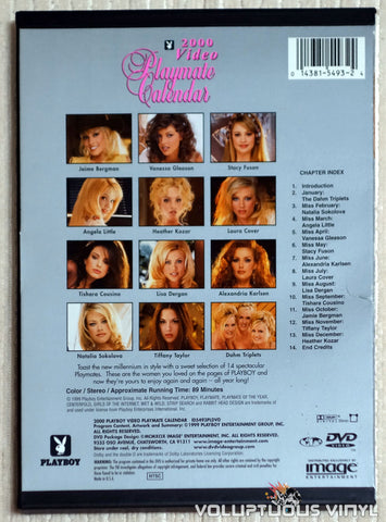 Playboy Video Playmate Calendar 2000 - DVD - Back Cover
