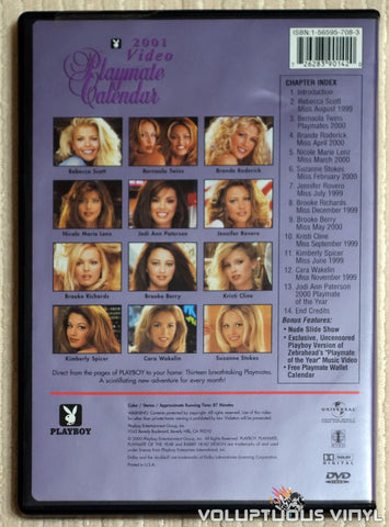 Playboy Video Playmate Calendar 2001 - DVD - Back Cover