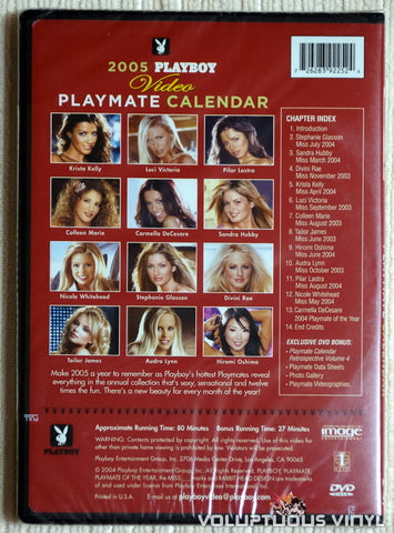 Playboy Video Playmate Calendar 2005 - DVD - Back Cover