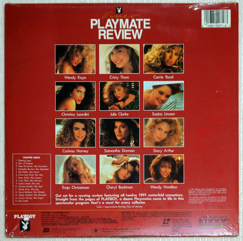 Playboy Video Playmate Review 1992 Laser Disc Back Cover