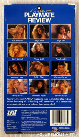 Playboy Video Playmate Review 1993 - VHS Tape - Back Cover