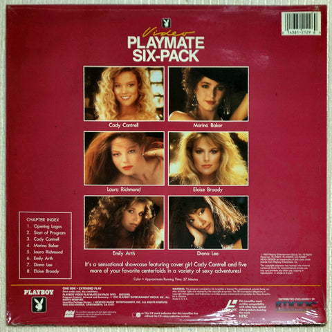 Playboy Video Playmate Six-Pack 1992 Laser Disc Back Cover