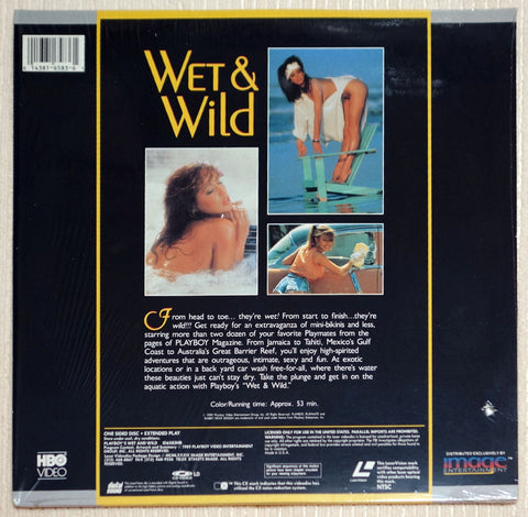 Playboy Wet & Wild #1 Laser Disc Back Cover