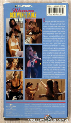 Playboy's Women Behaving Badly - VHS Tape - Back Cover