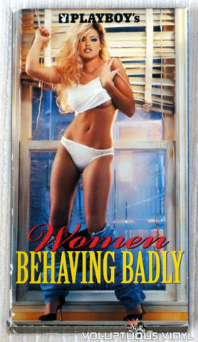 Playboy's Women Behaving Badly - VHS Tape - Front Cover