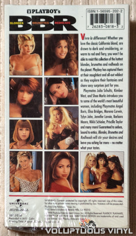 Playboy's Blondes, Brunettes, Redheads - VHS - Back Cover