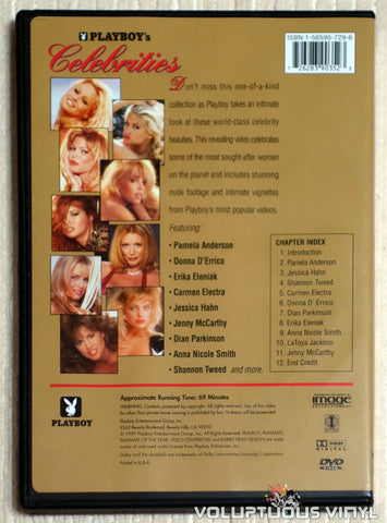 Playboy's Celebrities - DVD - Back Cover