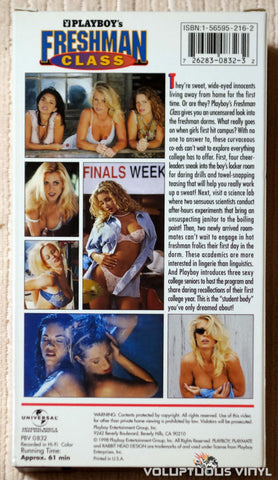 Playboy's Freshman Class - VHS - Back Cover