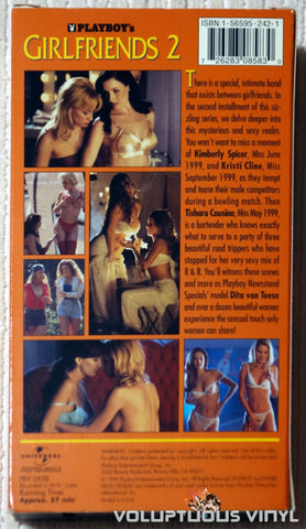 Playboy's Girlfriends 2 - VHS - Back Cover