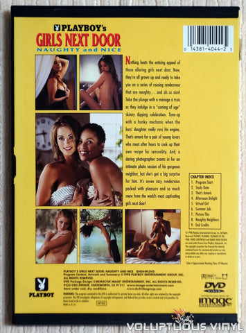 Playboy's Girls Next Door, Naughty and Nice - DVD - Back Cover