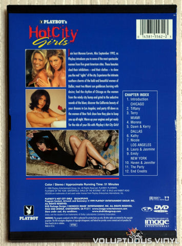Playboy's Hot City Girls - DVD - Back Cover
