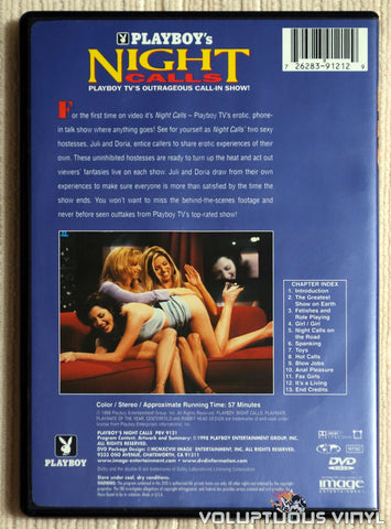 Playboy's Night Calls - DVD - Back Cover