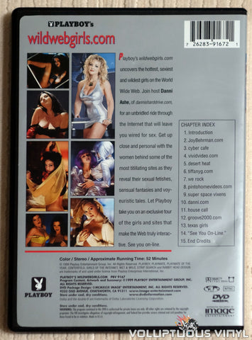 Playboy's wildwebgirls.com - DVD - Back Cover